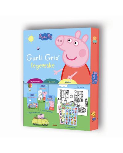 Gurli Gris' legeæske (klippe-klistre, tegn og mal, stickers)