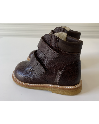 Begynder TEX-støvle Med Velcrolukning Dark Brown