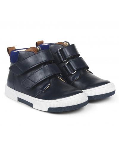 Sneaker Med Justerbar Velcrolukning Navy/Blue/Cognac