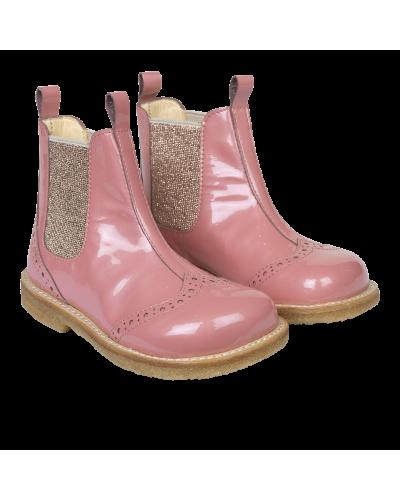 Støvle m. elastik - Pink/Rosa glitter