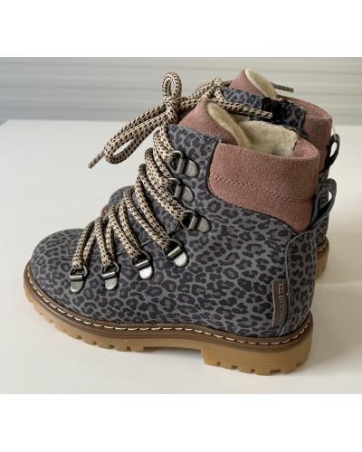 TEX-støvle med Lynlås og snøre Grey Leo/Powder