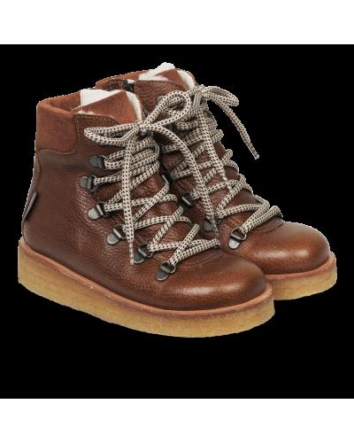 TEX-støvle Med Snore Og Lynlås Cognac/Brown