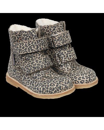 TEX-støvle med velcro lukning Leopard
