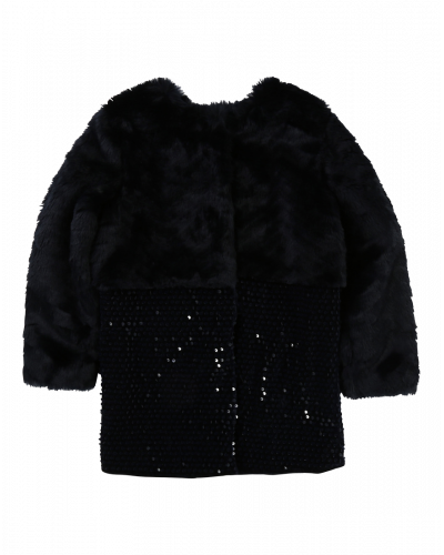 Jakke Fake Fur/Palietter