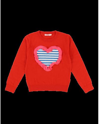 Strik Pullover Rød