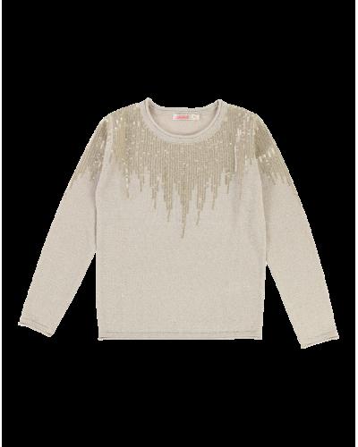 Strik Pullover Sand/Guld