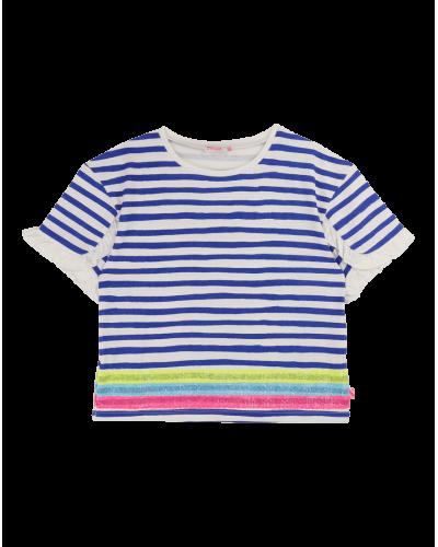 T-shirt  Stribet Blå