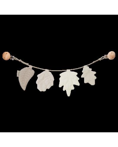 Barnevognskæde Leaves Mix Natural
