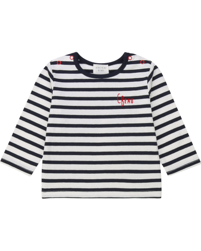Baby Long Sleeve T-shirt Off White Navy