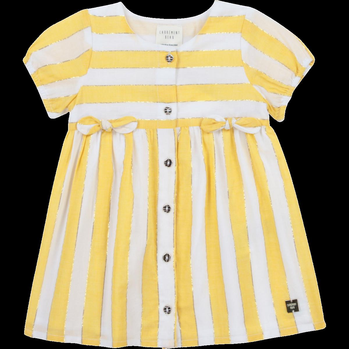 Kjole White Yellow