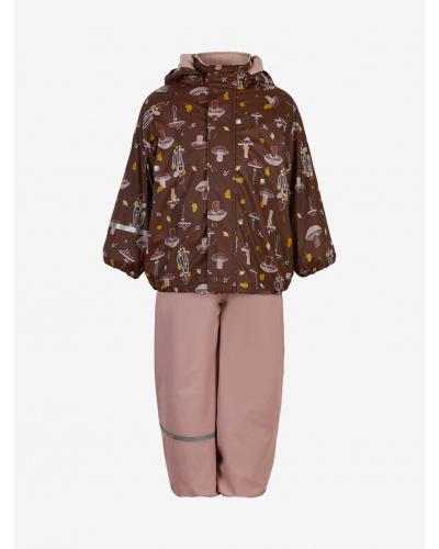 Rainwear Set - AOP, w/fleece Misty Rose