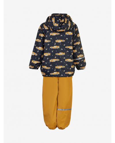 Rainwear Set - AOP, w/fleece Navy