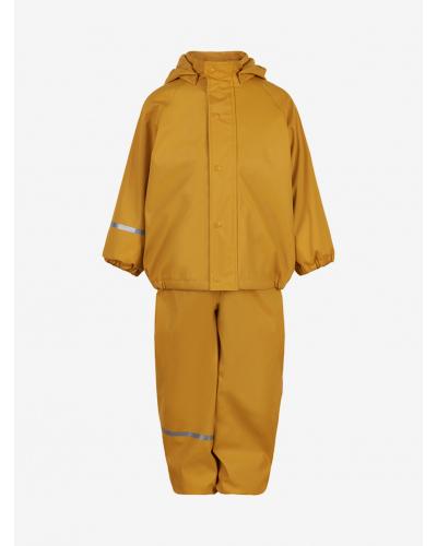 Rainwear Set - Solid w/fleece Mineral Yellow