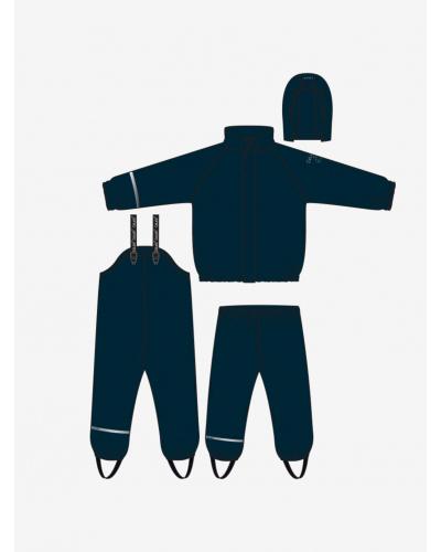 Rainwear Set - Solid w/fleece Navy