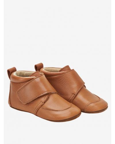 Sutsko m. Velcro Leather Brown