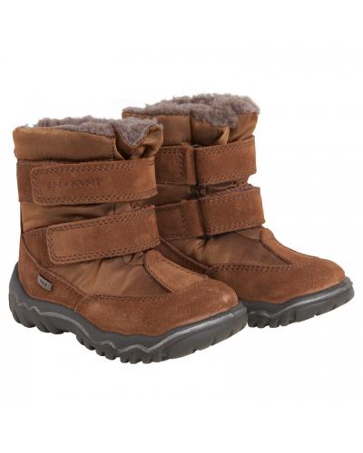 Vinterstøvle Tex m. Velcro Leather Brown