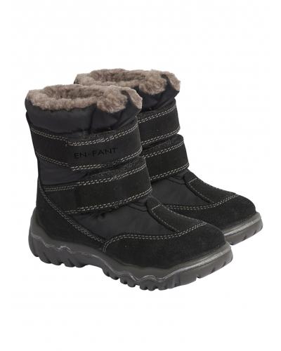 Vinterstøvle Tex m. Velcro Sort