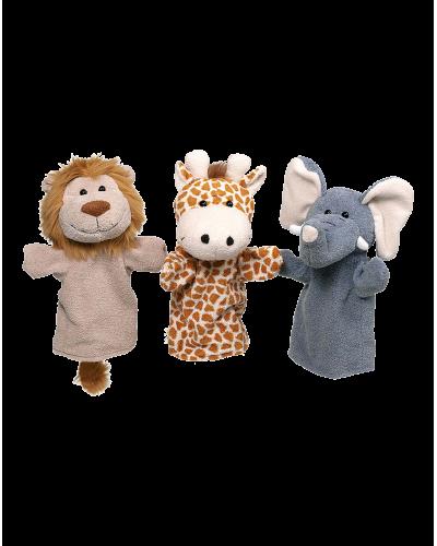 Håndbamser Wild Animals 3 stk.