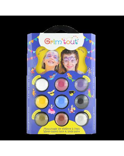 ansigtsmaling 9 farver - enhjørning