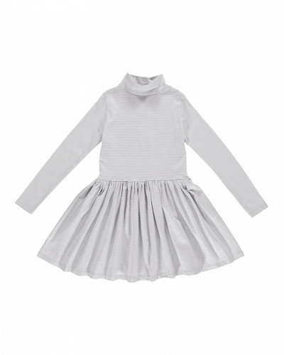 Cecilie Jersey Kjole Grey/Silver