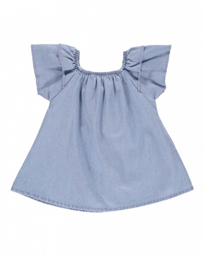Louise Baby Top Light Denim