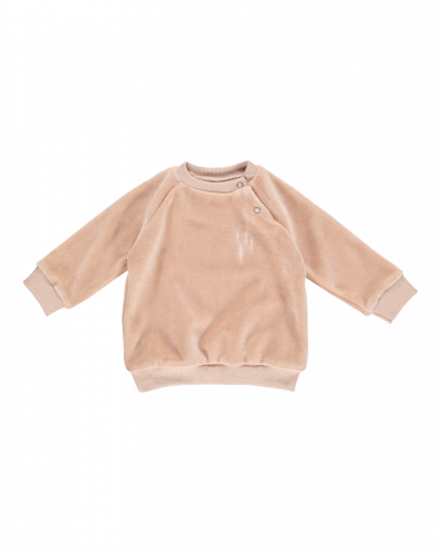 GRO Star Sweatshirt Rosa Velour