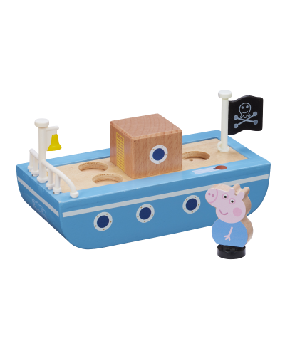 Peppa Wood Play Boat & Figure