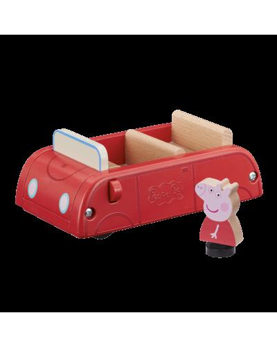 Peppa Wood Play Family Car & Figure