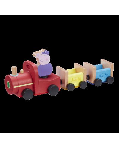 Peppa Wood Play Train & Figure