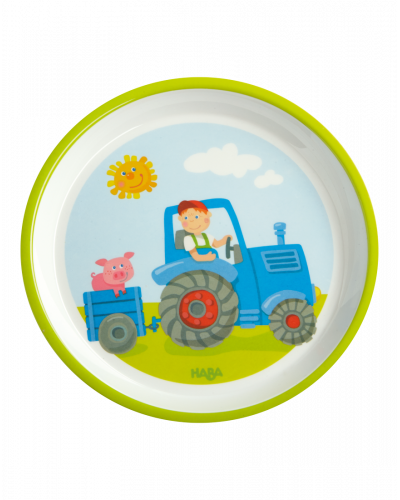 HABA Flad Tallerken Traktor
