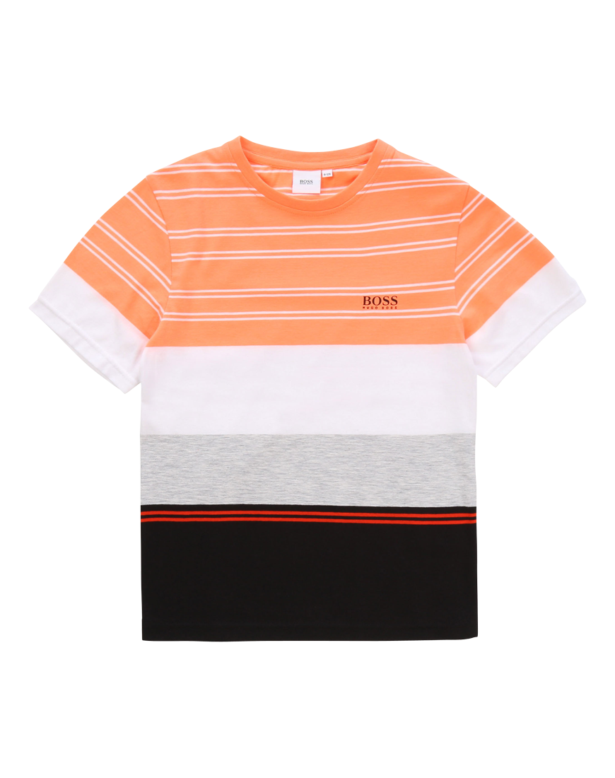 T-shirt Sort / Orange