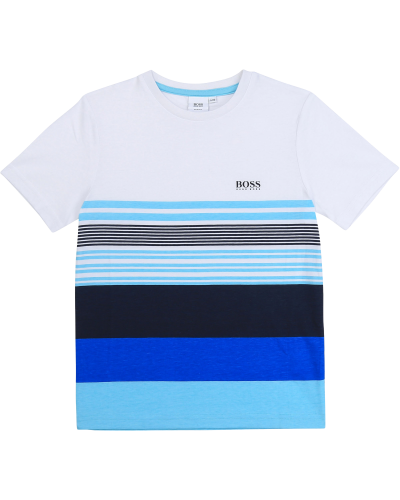 T-shirt White Blue