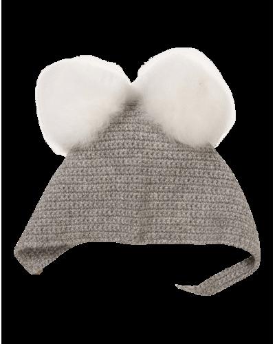 Babyhue Crocheted Lys Grå