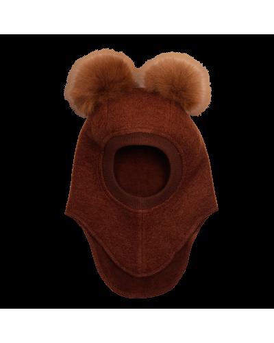 Big Bear Elefanthue Alpaca Pompoms Oak/api