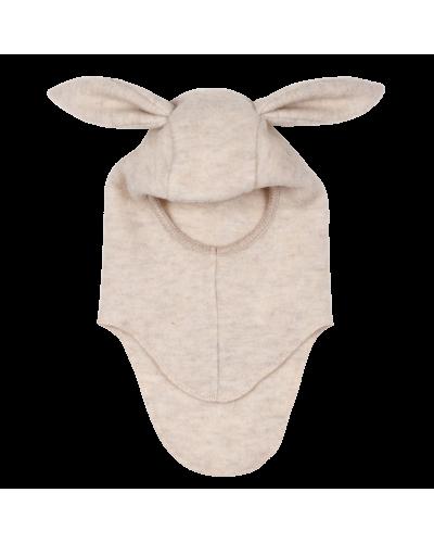 BUNBUN Elefanthut Wool Fleece W/Rabbit Ears Beige
