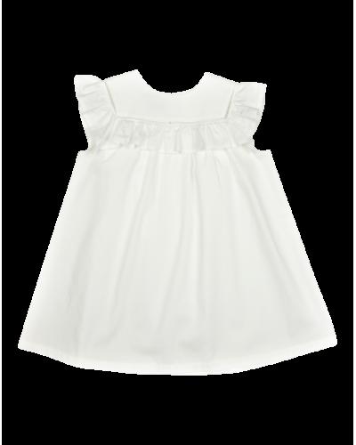 Crowny kjole Hvid poplin