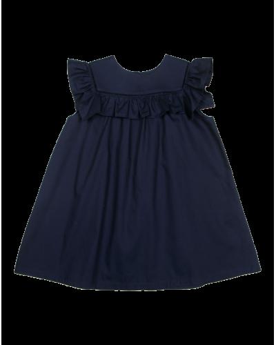 Crowny kjole navy poplin