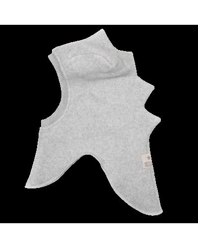 Dino Elephanthue Bomuld Fleece Light Grey