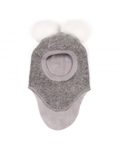 Elefanthue BIG BEAR Wool Light Grey / White