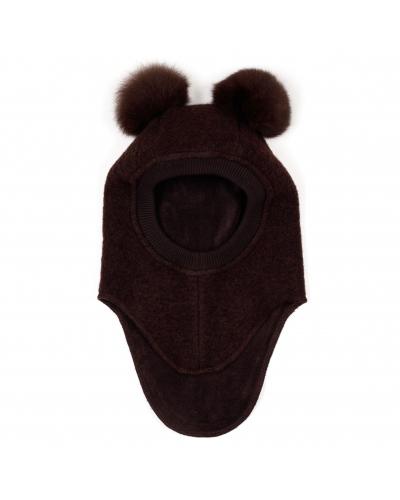 Elefanthue BIG BEAR Wool Brown/Brown Pompoms