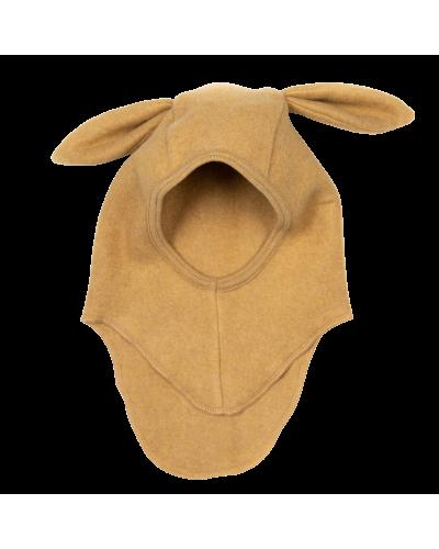 Elefanthue Fleece Kaninører Ocre