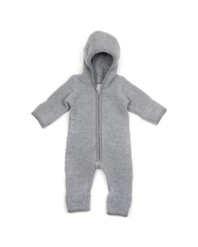 Emmie Babysuit No Ears Wool Fleece Light Grey