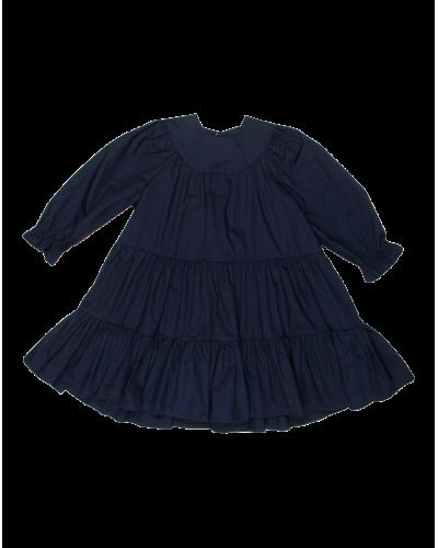 Frillie kjole navy poplin