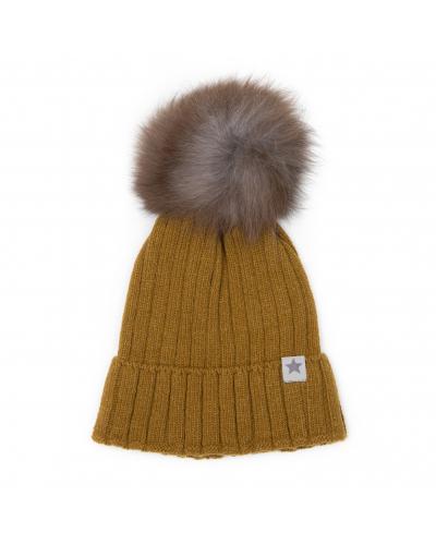 Hue WARMY Knithut Wool Mustard/Grey