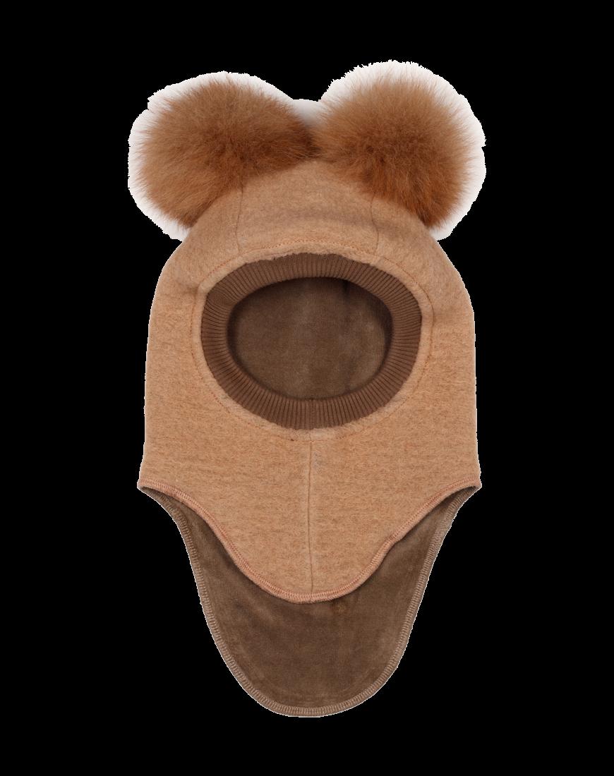 Huttelihut Elefanthue 2 Alpaca Pompoms Sand/Nougat