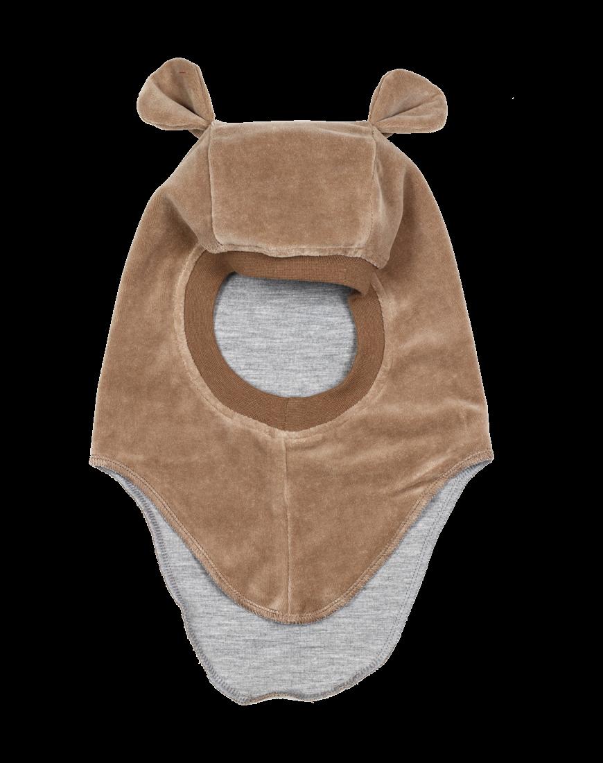 Huttelihut elefanthue m. øre nougat