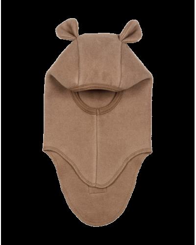 Huttelihut teddy elefanthue bomuld/fleece Nougat