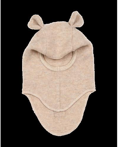 Teddy elefanthue uld/fleece beige melange