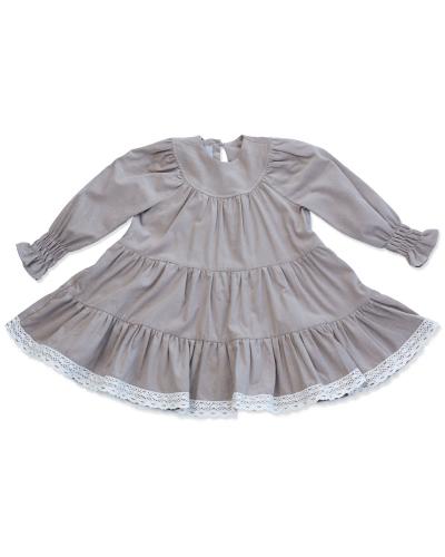 New York Dress Baby Velvet Camel