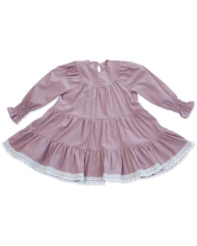 New York Dress Baby Velvet Rosa